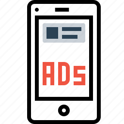 ads, advertising, commercial, discriptive, imagebasedad, marketing, mobile icon