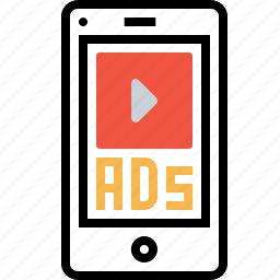 ads, advertising, commercial, marketing, mms, mobile, videoad icon