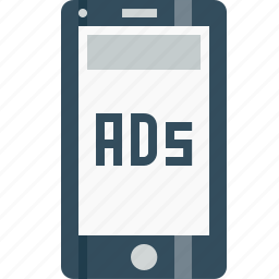 ads, advertising, banner, commercial, marketing, mobile, topofpage icon
