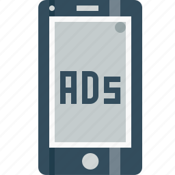ads, advertising, centertopage, commercial, fullscreen, marketing, mobile icon