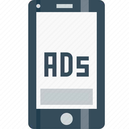 ads, advertising, bottomofpage, commercial, marketing, mobile, poster icon