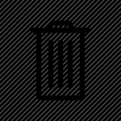 bin, delete, garbage, recycle, remove, trash, trash can icon
