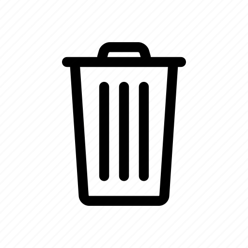 bin, delete, garbage, recycle, remove, trash, trash can icon