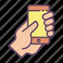 mobile, hand