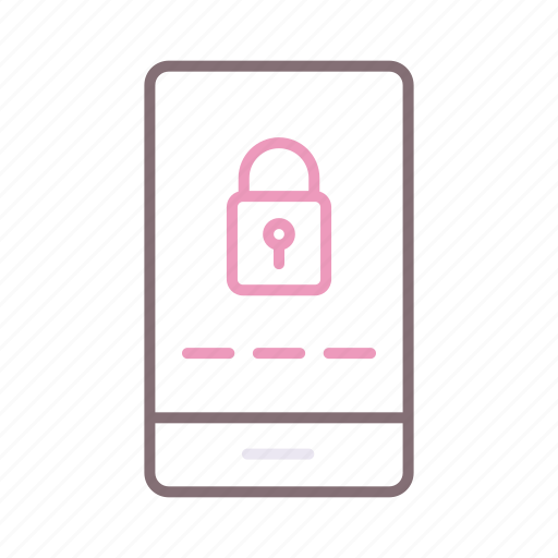 Mobile, password, security icon - Download on Iconfinder