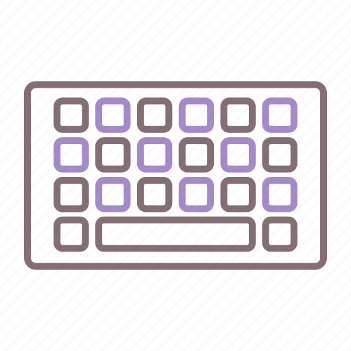 keyboard, mobile, typing icon