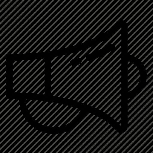announcement, app, marketing, megaphone, mobile, news, sale icon