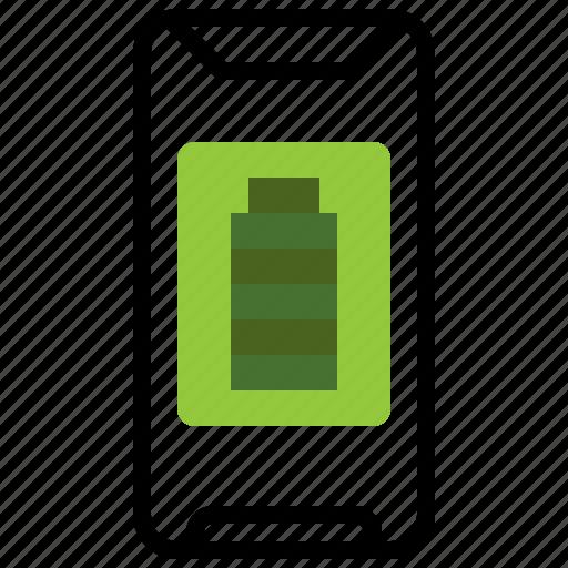 battery, full, level, mobilephone, smartphone, status, ui icon