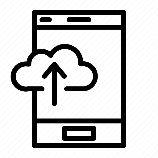 application, cloud, cloud application, mobile, mobile application, upload icon