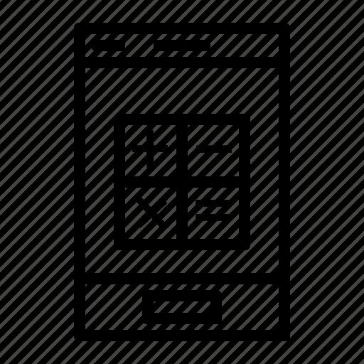application, calculator, calculator application, mobile, mobile application icon