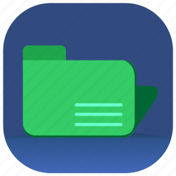 documents, folder, office, paper icon