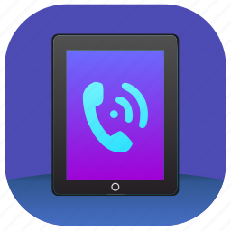 call, dial, ipad, talk icon