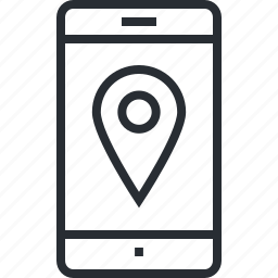 app, gps, location, mobile, navigation, pixel icon, thin lline icon