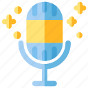 app, audio, mic, microphone, mobile, music icon