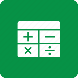 calculator, maths, minus, plus icon