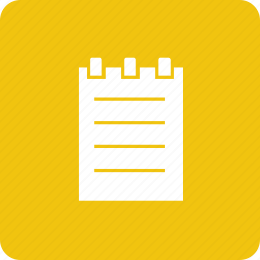 notepad, notes, paper, write icon