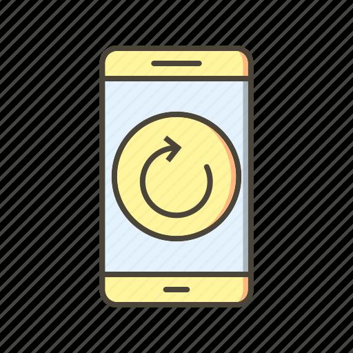 app, mobile, phone, reset icon