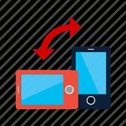 auto, mobile, phone, rotate, rotation, sync icon