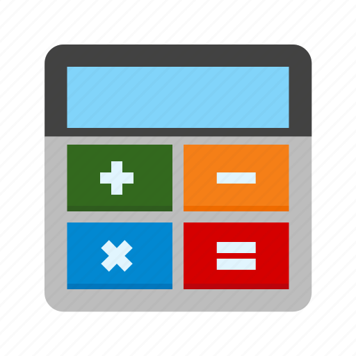 addition, calculation, calculator, divide, mathematics, multiply, subtraction icon