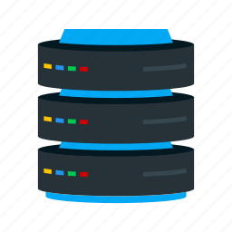 data, drive, management, mobile, phone, server, storage icon
