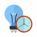 bulb, clock, display timeout, stopwatch, time, timer icon