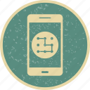 app, mobile, pattern icon