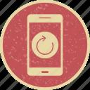 app, mobile, reset icon