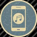 app, mobile, music, phone icon