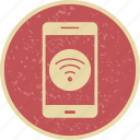 app, mobile, phone, wifi icon