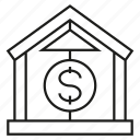 bank, dollar, finance, money icon