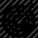 archer board, dart board, hitting target, target board, target sports icon