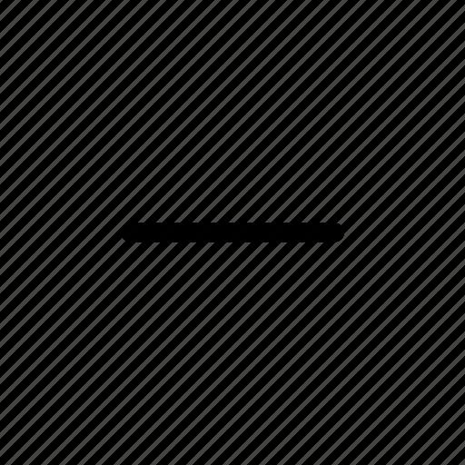 delete, min, minus, remove icon