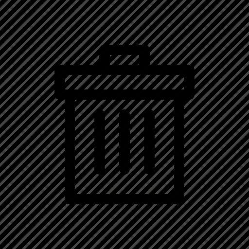 can, delete, remove, trash icon