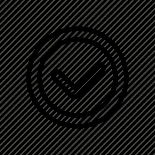 check, done, finish icon