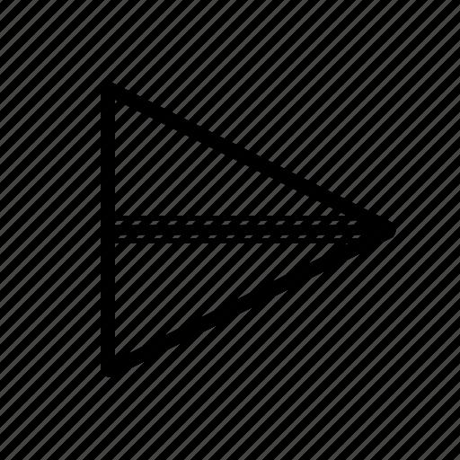 paper, plane, send, sheet icon