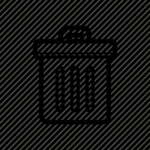 delete, erase, trash, trash bin icon