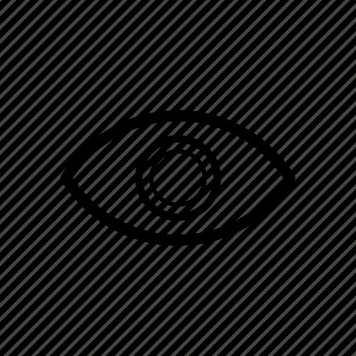 eye, eyeball, public, show icon