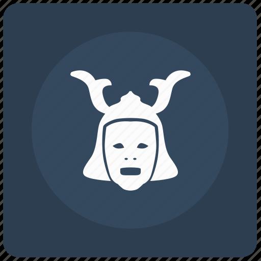 Warrior, mask, asia, theather, japan, ronin icon