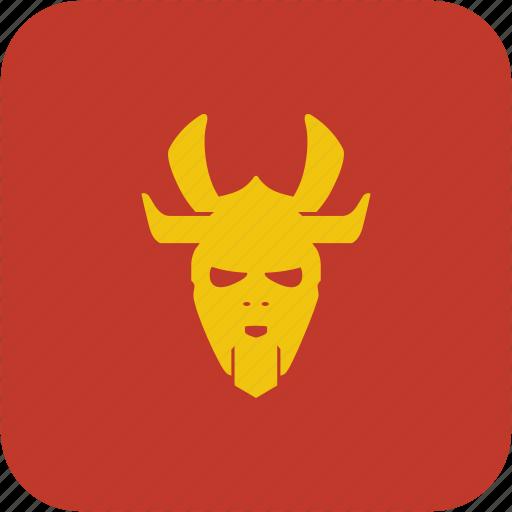 mask, ronin, soldier, warrior icon