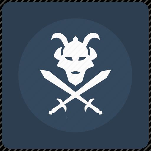 mask, ronin, soldier, sword, warrior icon