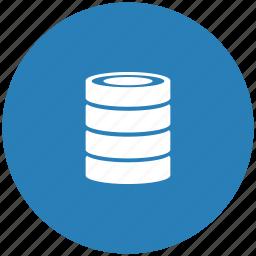 bank, blue, data, info, round, storage icon