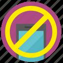 access, cancel, device, mobile, phone, smartphone icon