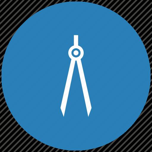 architector, blue, divider, instrument, round icon