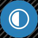 blue, chart, part, half, round, contrast