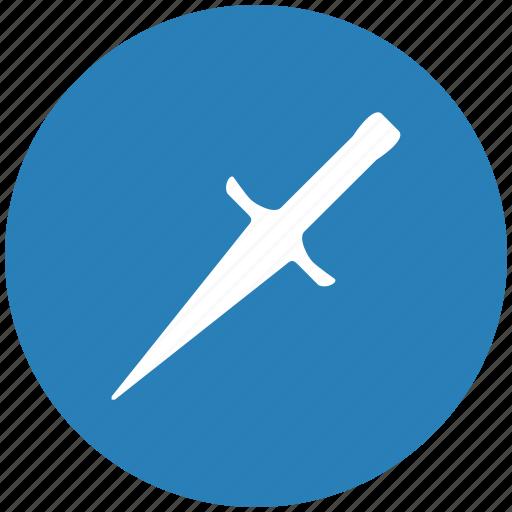 blade, blue, ice, kitchen, pick, round icon