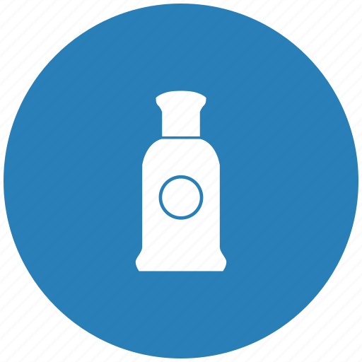aroma, blue, bottle, men, parfume, round icon