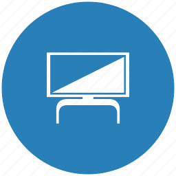 blue, modern, plazma, round, set, tv icon