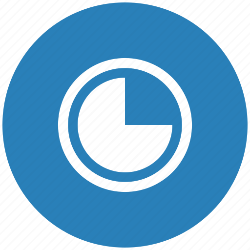 blue, chart, economic, part, round icon