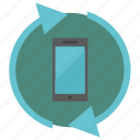 device, mobile, reboot, reload, smartphone icon