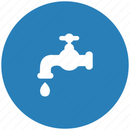 blue, drop, round, supply, tap, toilet, water icon